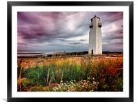 Southerness Lighthouse 1748 hdr , Framed Mounted Print