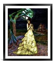 Moonlight Lady, Framed Mounted Print