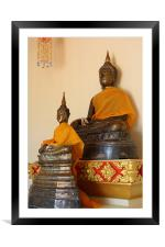 1,000 Year Old Buddha Statue, Framed Mounted Print