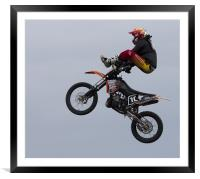 Stunt show, Framed Mounted Print