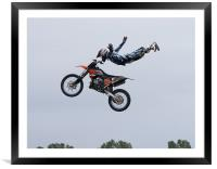 Freestyle stunt show, Framed Mounted Print