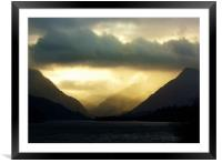 Moody Morning, Framed Mounted Print