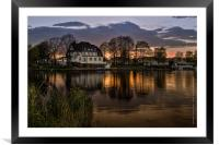 Evening in Spring at the Lake 2013, Framed Mounted Print