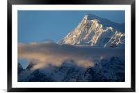 Cloud and Himalayan Mountains on the way to Thorun, Framed Mounted Print