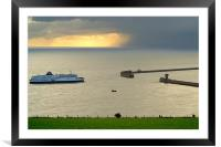 Ferry Approaching England, Framed Mounted Print