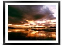 Sunset over the Cromarty Firth, Framed Mounted Print
