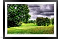 The 9th Hole, Framed Mounted Print
