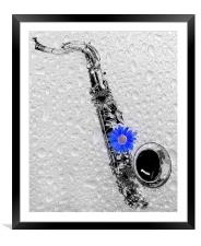 Playin The Blues, Framed Mounted Print