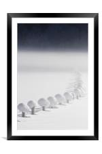 Snow chain III, Framed Mounted Print