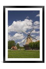 Bagband Windmill, Framed Mounted Print