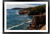 Acadia coast, Framed Mounted Print