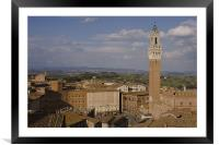 Aerial view of Siena, Framed Mounted Print