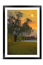 THE WIND AND THE WILLOWS, Framed Mounted Print