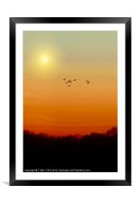 SAILING THE SKY, Framed Mounted Print