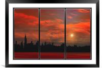HOT IN THE CITY, Framed Mounted Print