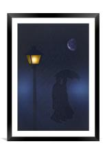 I LOVE A RAINY NIGHT, Framed Mounted Print
