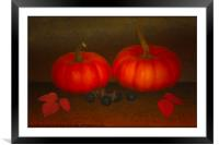 SIGNS OF AUTUMN, Framed Mounted Print