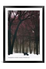 A LONELY WINTER DAY, Framed Mounted Print