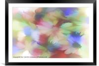 DAISY FLORAL ABSTRACT, Framed Mounted Print