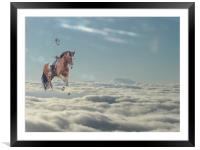 Floating on a cloud, Framed Mounted Print