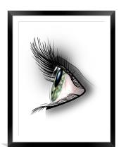 It's all in the Eyes, Framed Mounted Print