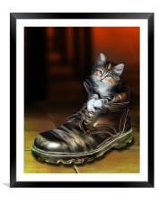 Puss in Boot, Framed Mounted Print