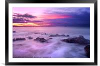 Guille Purple Sunset, Framed Mounted Print