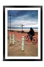 Promenade Cyclist, Framed Mounted Print
