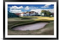 18th Green Muirfield Golf Club, Framed Mounted Print