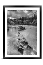 River Orchy, Framed Mounted Print