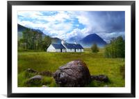 Black Rock Cottage, Framed Mounted Print