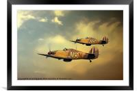 6 Squadron Hurricanes, Framed Mounted Print