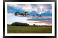 17 Squadron Hurricanes, Framed Mounted Print