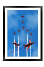 The Red Arrows, Framed Mounted Print