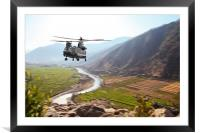 Chinook Supply Drop, Framed Mounted Print