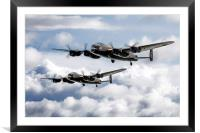 Flying Lancasters, Framed Mounted Print