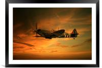 Spitfire Glory, Framed Mounted Print
