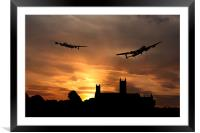 Lincolnshire Lancasters , Framed Mounted Print