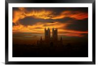 Lincolnshire Bombers, Framed Mounted Print