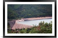 Over The Dam, Framed Mounted Print