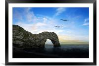 Lancs at the Door , Framed Mounted Print