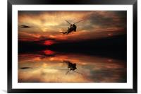 Sea King Sunset , Framed Mounted Print