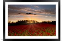 Poppy Field Pass , Framed Mounted Print