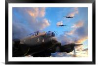 Three lancasters , Framed Mounted Print
