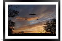 Bombers Pass By , Framed Mounted Print