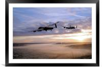 Lancasters Over The Valley , Framed Mounted Print