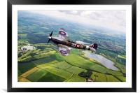 Spitfire Countryside Tour , Framed Mounted Print