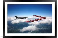 Flying with XH558 and The Reds, Framed Mounted Print