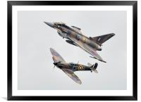 Typhoon and Spitfire , Framed Mounted Print