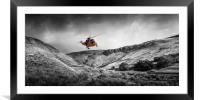 Sea King Glen Rescue, Framed Mounted Print